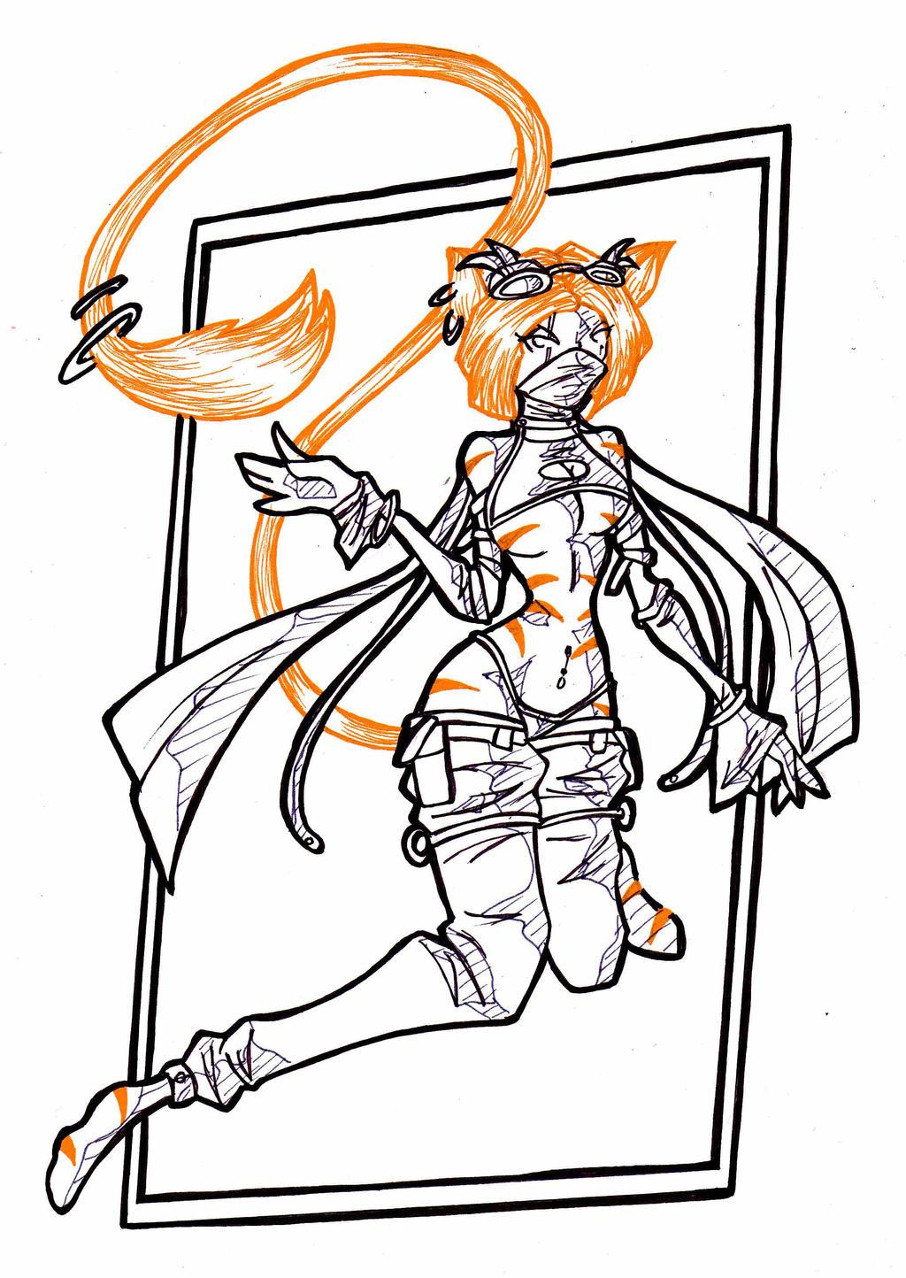 orange-cat-girl by LadyAstrogah