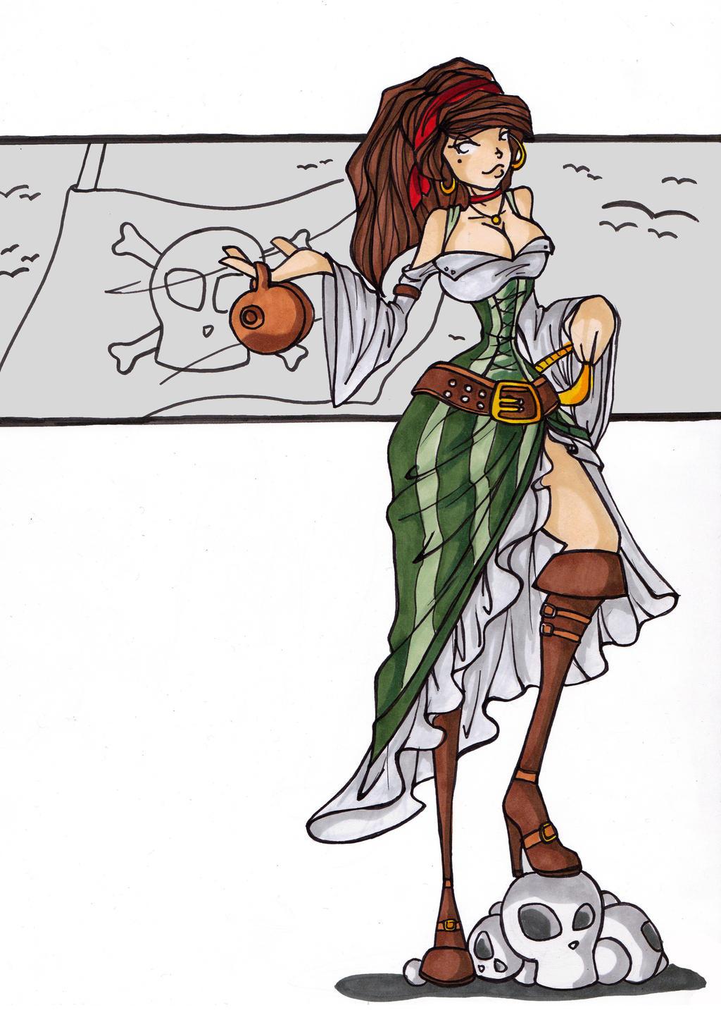 Pirat-girl by LadyAstrogah