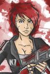 Shepard sketch - Mass Effect by LadyAstrogah