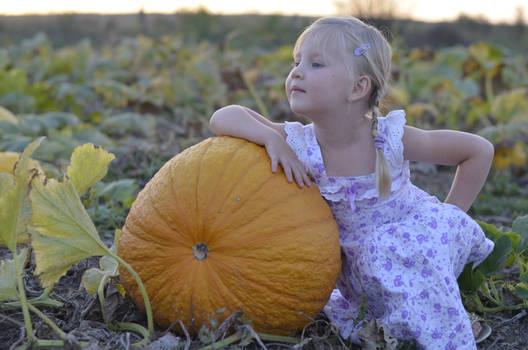 pumpkin and girl