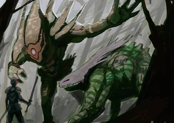 Beasts of the forest by FedericoCalchera