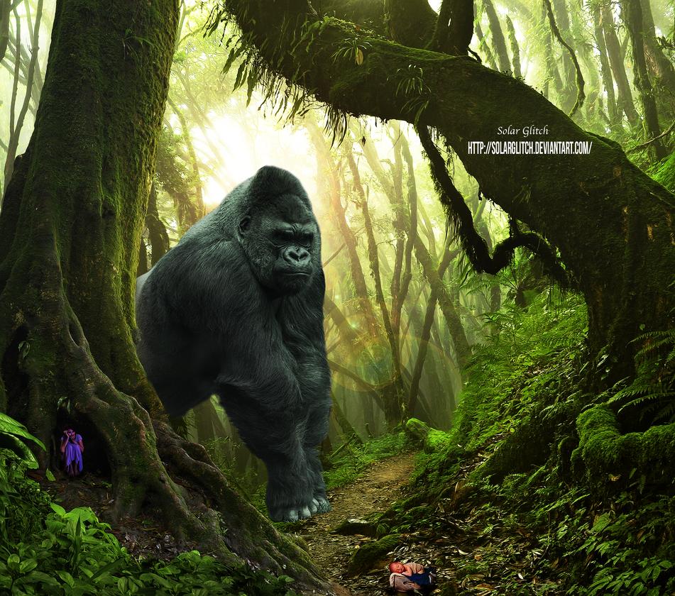 King Kong Meets Tarzan by SolarGlitch