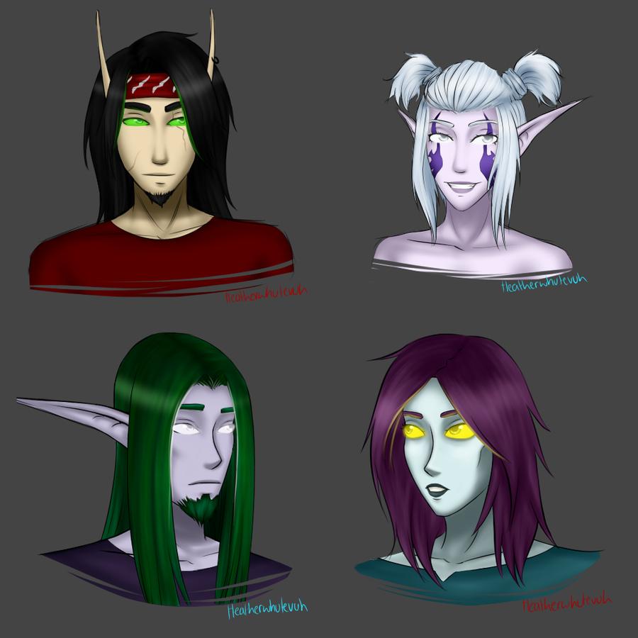 Character busts - 1 by Heatherwhutevuh