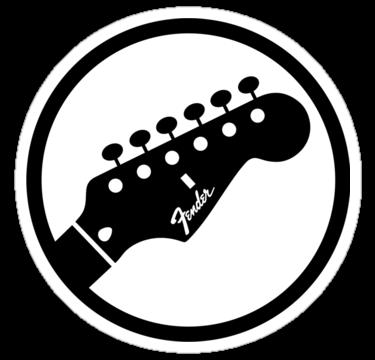 fender stylized headstock black stickersraffons on deviantart