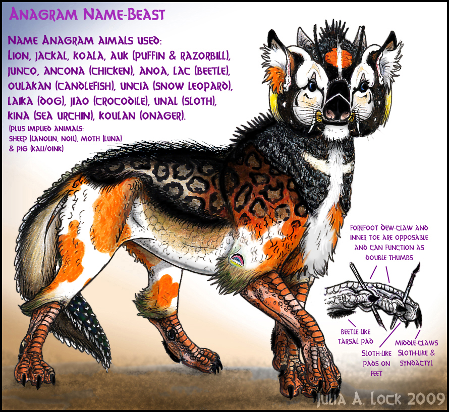 Name Anagram Beast by ghost-eye