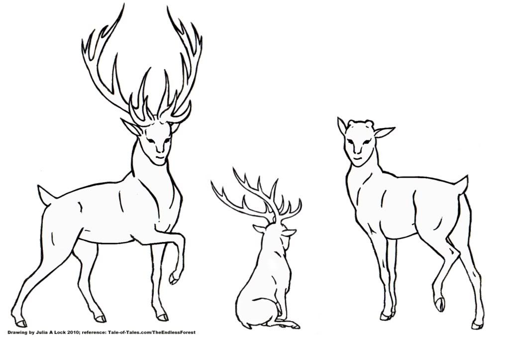TEF Deer Design LineArt by ghost-eye