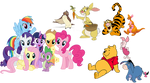 Mane 6 Meet Winnie The Pooh And Friends by SunsetShimmerTrainZ1