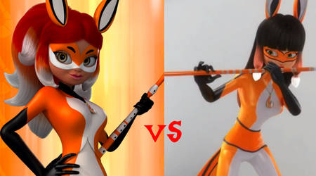 Rena Rouge VS Volpina by SunsetShimmerTrainZ1