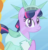 Twilight Sparkle (MLP) (Statue Of Liberty Outfit) by SunsetShimmerTrainZ1