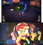 Sunset's Frustrated With Epic Mickey by SunsetShimmerTrainZ1
