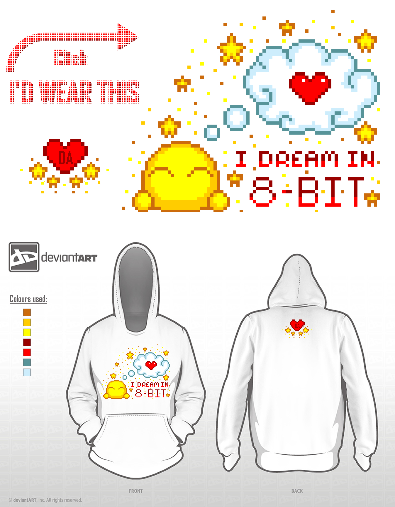I dream in 8-Bit - deviantWEAR Challenge Entry by r0se-designs