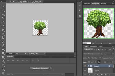 Pixel Tree Tutorial - YT Video by r0se-designs