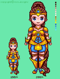 Female Armor - Pixel Practice by r0se-designs