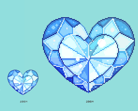 Crystal Pixel Heart - Making of video by r0se-designs