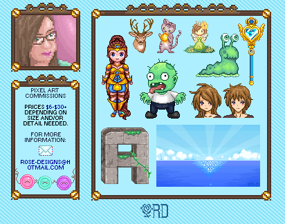Pixel Art Commissions by r0se-designs