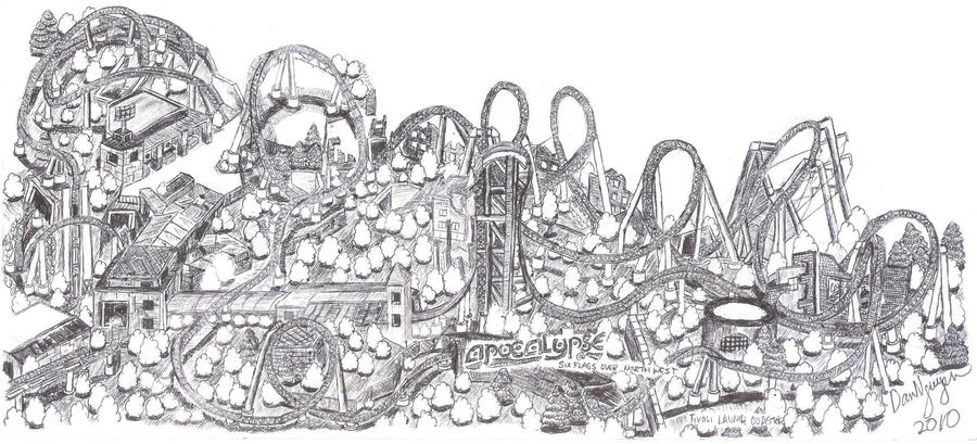 Apocalypse Roller Coaster By Dvn225 On DeviantArt