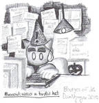 Paranoid: Wears a tinfoil hat by dvn225