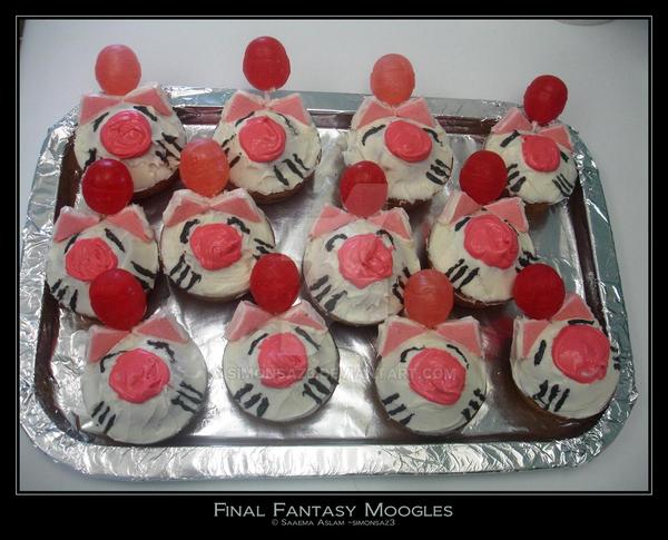 Cupcake: Final Fantasy Moogles by simonsaz3
