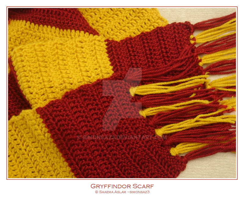Crochet Gryffindor Scarf By Simonsaz3 On Deviantart