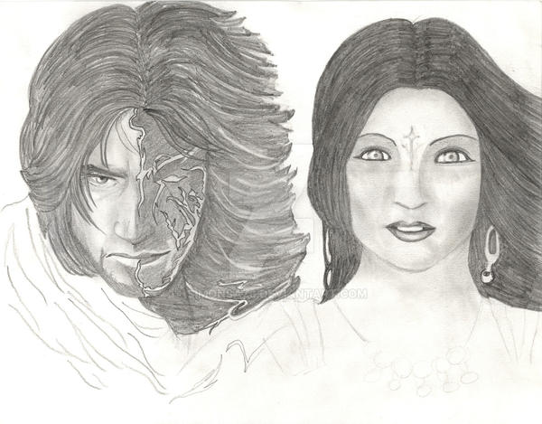 Prince of Persia with Kaileena by simonsaz3