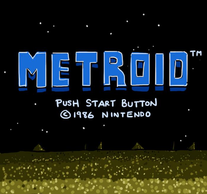 Metroid Title Screen by soks2626