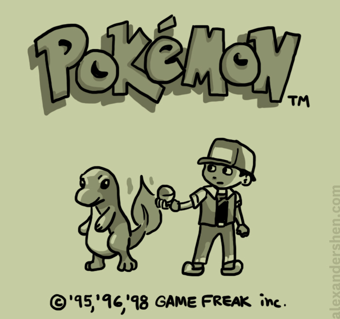 Pokemon Red Title Screen by soks2626