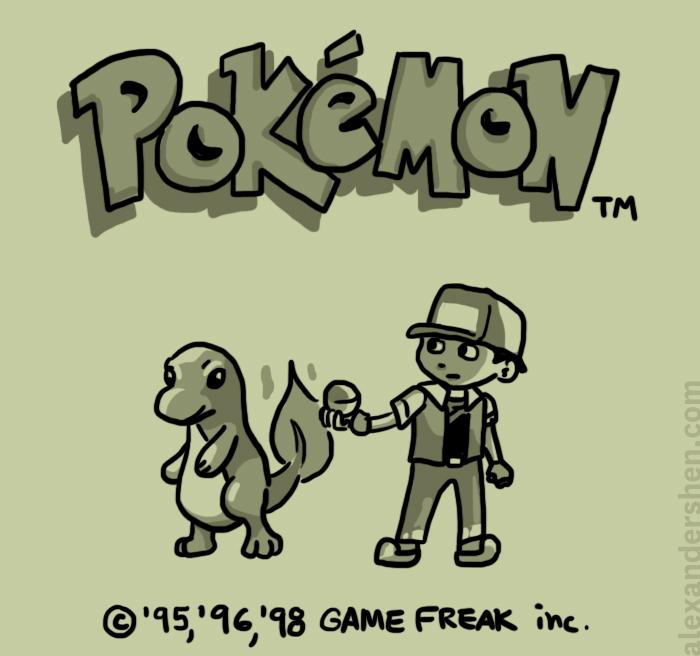 Pokemon Red Title Screen by soks2626