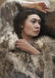 Resting (Neanderthal woman) by Renum63