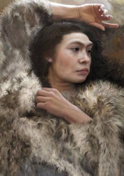 Resting (Neanderthal woman)