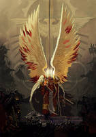 Sanguinius- commission by DavidSondered