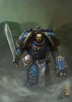 Ultramarine Veteran by DavidSondered