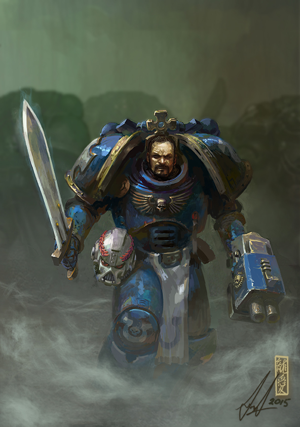 Ultramarine Veteran by DavidSondered