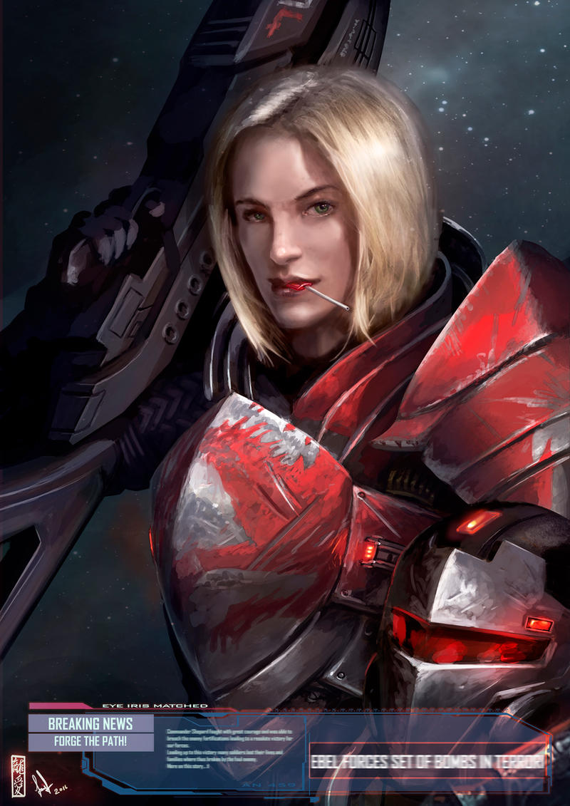 Mass Effect - FemShep by DavidSondered