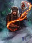 Commission: Nithfaris - Thiefling Druid