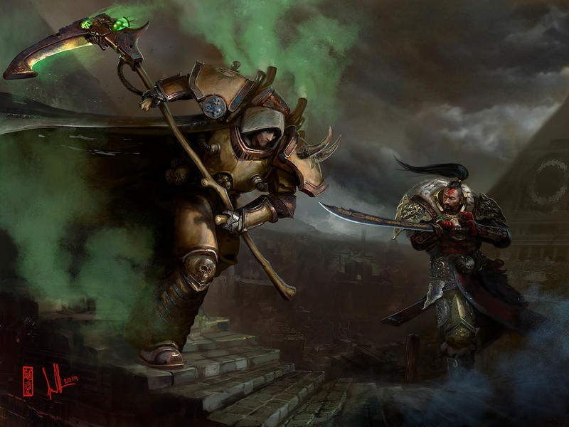 Khan vs Mortarion
