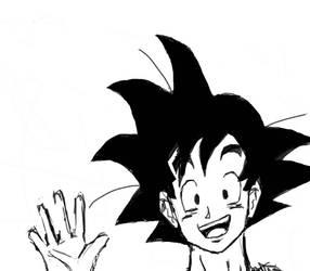 Goku Peek Sketch