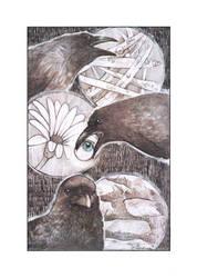 Three Crows by SaskiaDeKorte