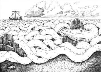 Sea Serpent by SaskiaDeKorte