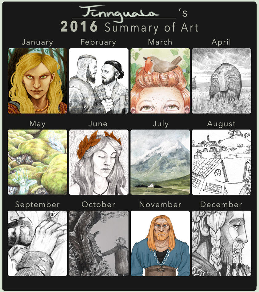 2016 Summary of Art by Finnguala