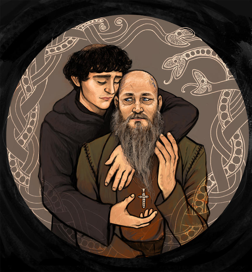 Athelstan and Ragnar by Finnguala