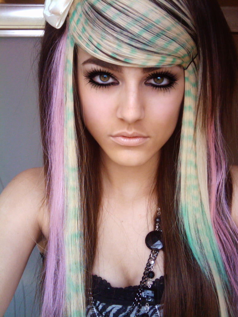 Colorful Scene Hair 3 by Misskylakandy on DeviantArt