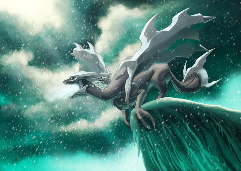 Kyurem, the ice dragon by Sa-chan1603