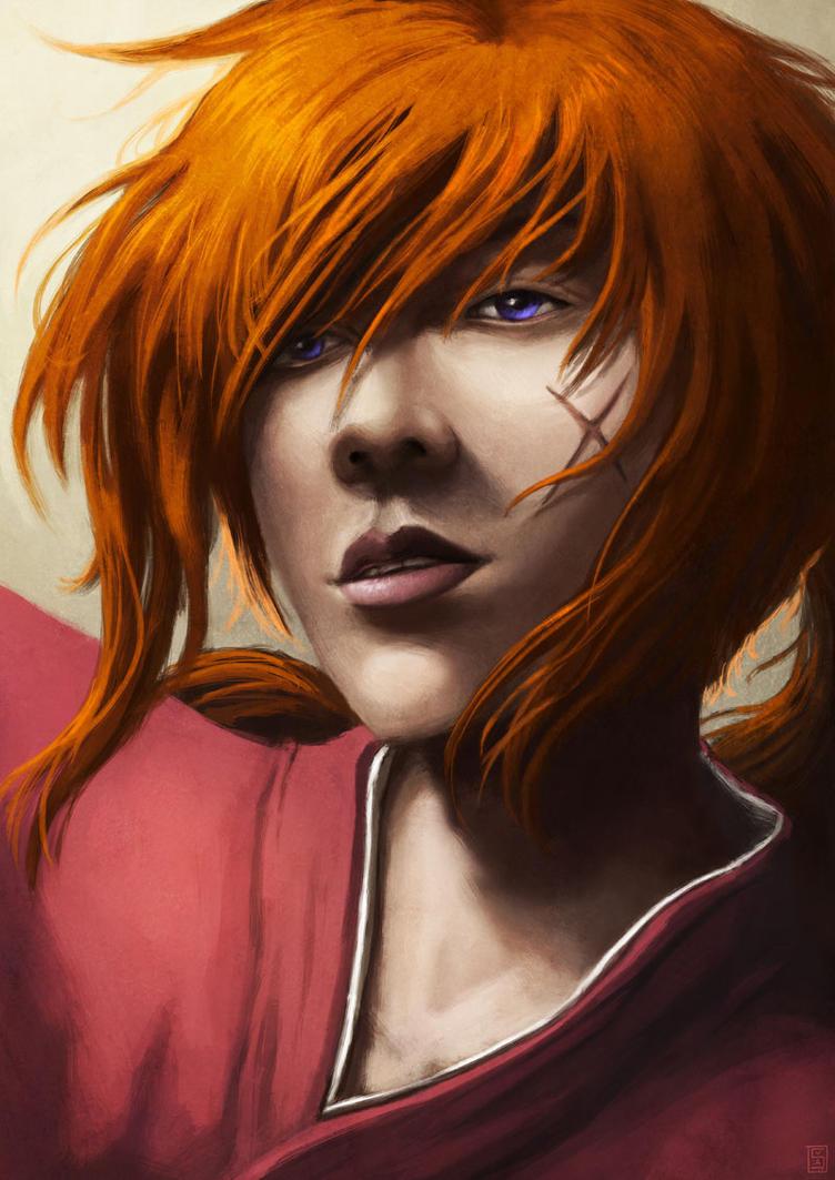 Kenshin - portrait - by Sa-chan1603