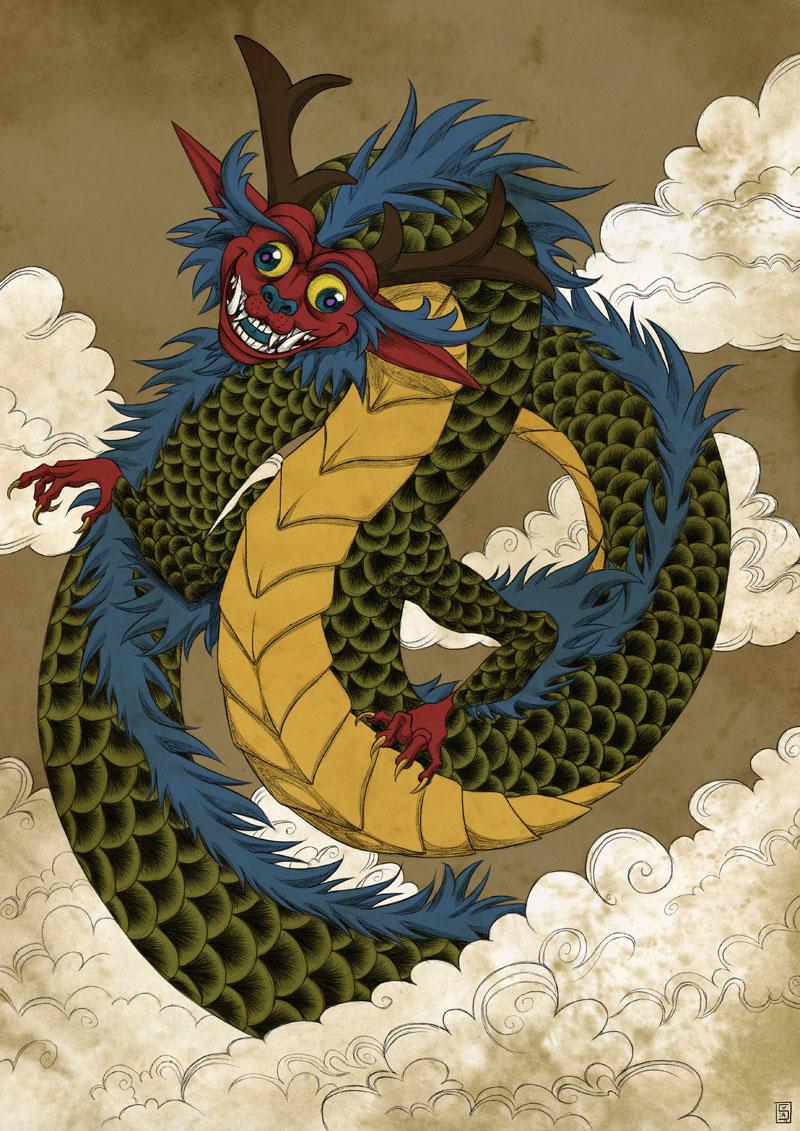 Yokai draconique by Sa-chan1603