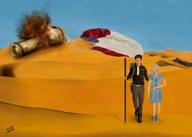 Cress and Thorne Desert Scene  Lunar Chronicles  2 by logan7ms