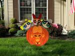 Powerpuff Girls Mojo Jojo Pumpkin Yard Decoration