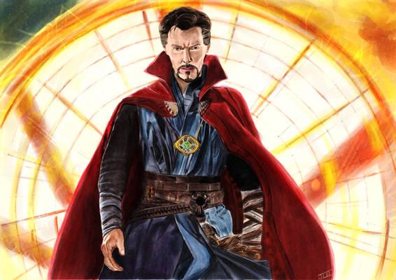 Doctor Strange Digital Watercolor