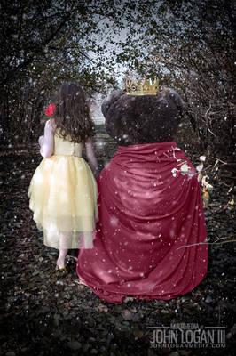 Christmas Card 2017 Beauty and the Beast Theme