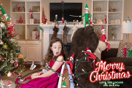 Elf on the Shelf Takeover - Christmas Card 2018