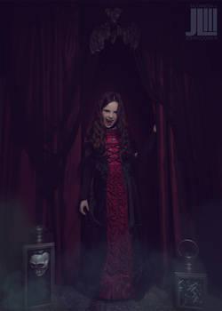 Children's Vampire Halloween Costume Photoshoot
